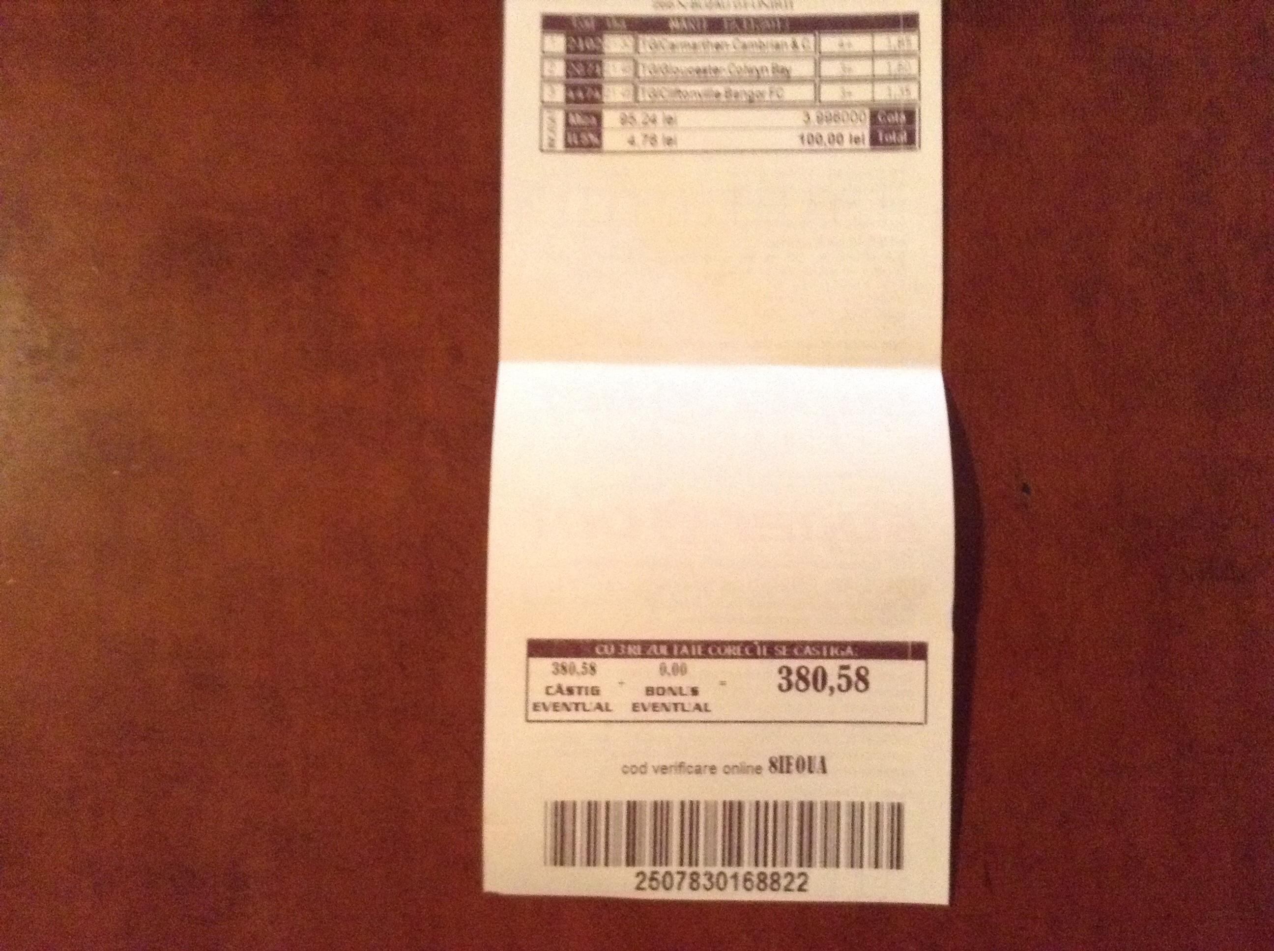 Biletul zilei la pariuri