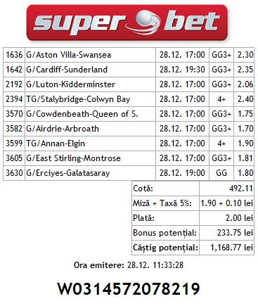Biletul zilei Hunter 28.12.2013 - week-end(4)