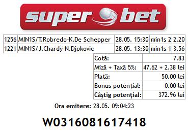 Bilet tenis Edi 29.05.2014