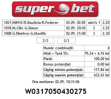 Bilet Mihai Tenis 02.09.2014