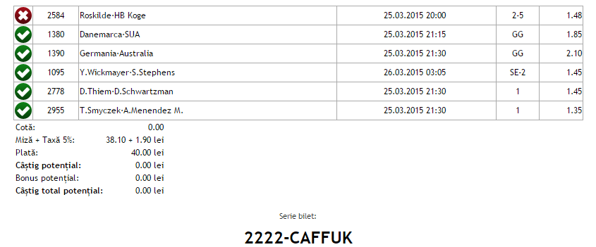 Bilet Vip Hunter 25.03.2015
