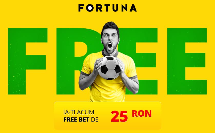 Ia-ti ACUM free bet de 25 Ron