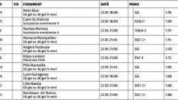 Ponturi Pariuri Ligue 1 - Franta : Etapa 10/2016