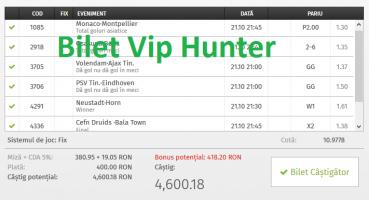 Bilet Vip cu castig 4600 lei. A fost postat si pe site!