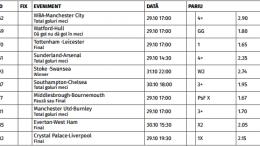 Ponturi Pariuri Premier League - Anglia : Etapa 10/2016