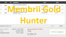 Super Profit!!! 4 Bilete Gold Castigate Ieri