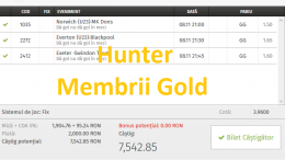 Bilete Gold castigatoare ieri