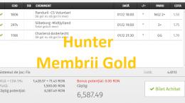 Profit din prima zi a lunii! 3 Bilete Gold Castigate Ieri