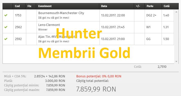 Profit Bun pe Biletele Gold de ieri