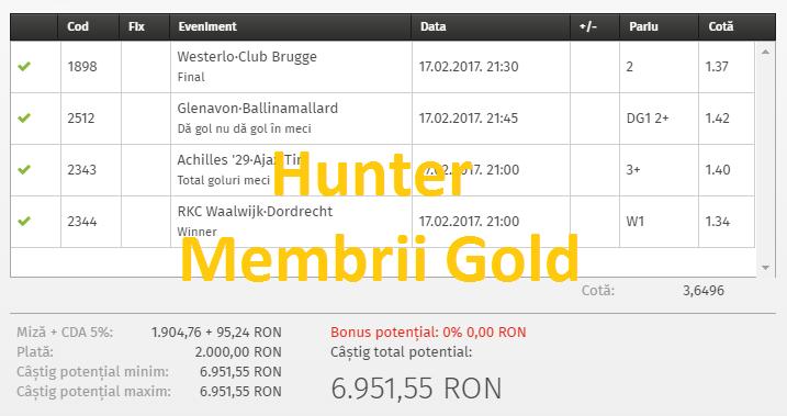 bilet gold hunter