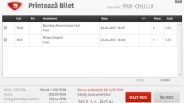 Biletul Zilei Fotbal 23.04.2017 - Cota 2