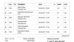 Biletul Zilei 29.05.2017 - cota 10