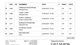 Biletul Zilei 25.05.2017 - cota 10
