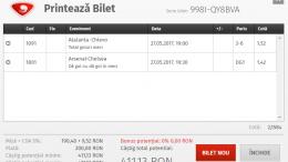 Biletul Zilei Fotbal 27.05.2017 - Cota 2