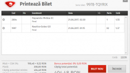 Biletul Zilei Fotbal 20.06.2017 - Cota 2