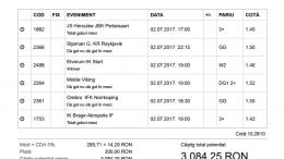 Biletul Zilei Pariuri 02.07.2017 - cota 10
