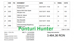 Bilet Vip cu castig 3460 lei - 06.07.2017
