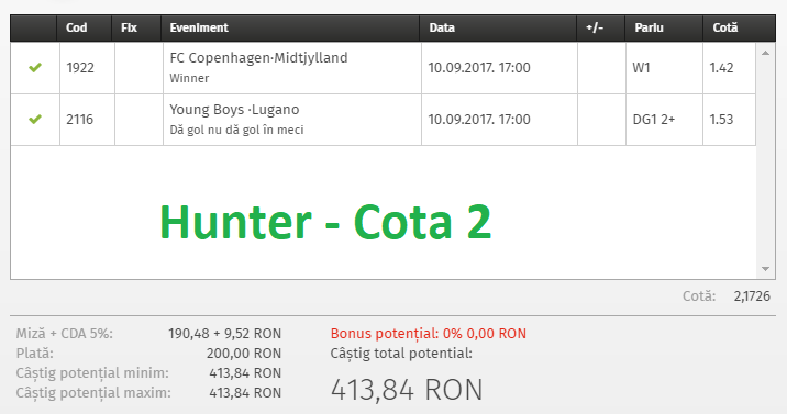 ponturi hunter cota 2