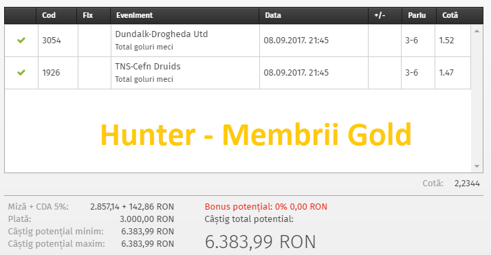bilet gold hunter