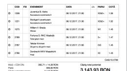 Biletul Zilei Pariuri 08.12.2017 - cota 10