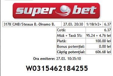 Bilet Seby 26.03.2014