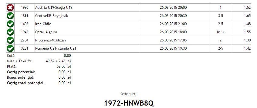 Bilet Vip Hunter 26.03.2015