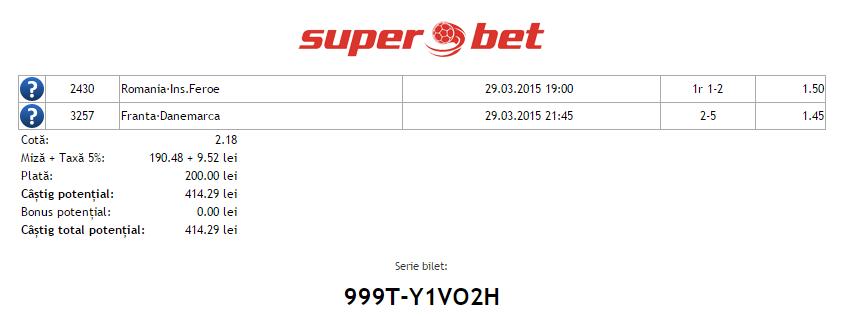 Bilete Vip Hunter 29.03.2015 - cota 2