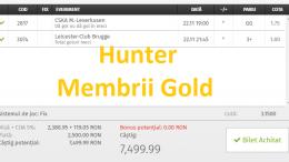 Super Profit!!! 3 Bilete Gold Castigate Ieri