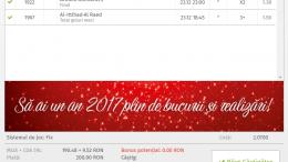 Biletul Zilei 23.12.2016 - Cota 2