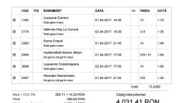 Bilet Week-End Pariuri 30.03.2017 - cota 13