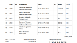 Biletul Zilei Pariuri 27.07.2017 - cota 11