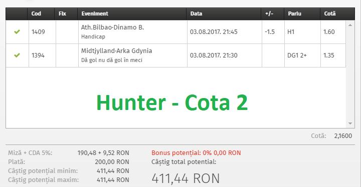 hunter cota 2