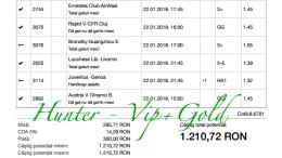 Bilet Hunter cu castig 1.200 lei - 23.01.2018