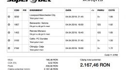 Biletul Zilei Pariuri 04.04.2018 - cota 11