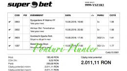 Bilet Hunter cu castig 2.000 lei - 10.05.2018