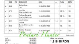 Bilet Hunter cu castig 1.800 lei - 19.05.2018