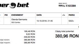Biletul Zilei 13.10.2018 - Cota 2