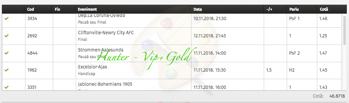 Bilet Vip+Gold cu castig 9.700 lei