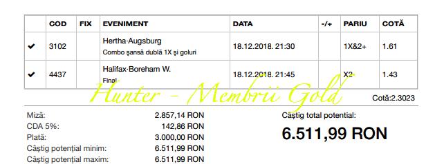 Castig 18.825 ieri in zona Gold cu cele 3 bilete verzi