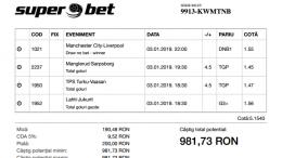 Biletul Zilei Pariuri 03.01.2019 - cota 5
