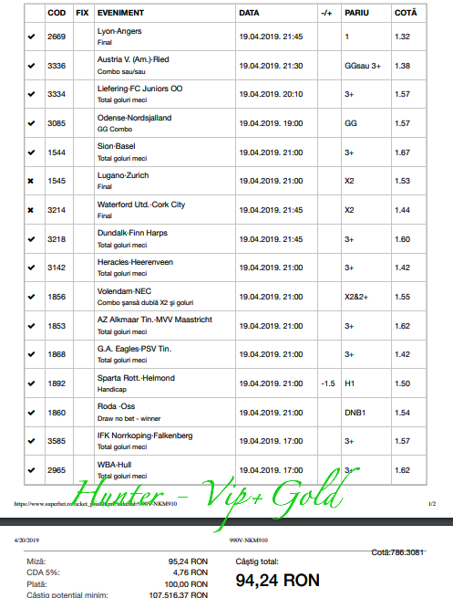 bilet vip gold hunter