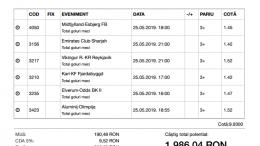 Biletul Zilei Pariuri 25.05.2019 - cota 10