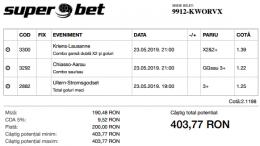 Biletul Zilei 23.05.2019 - Cota 2