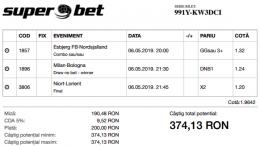 Biletul Zilei 06.05.2019 - Cota 2