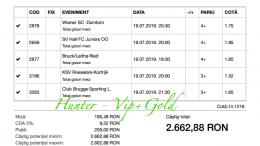 Bilet Vip+Gold cu castig 2662 lei