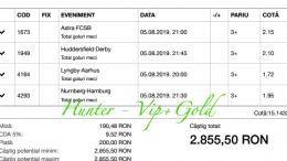 Bilet Vip+Gold cu castig 2855 lei