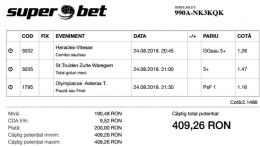 Biletul Zilei 24.08.2019 - Cota 2
