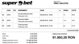 Biletul Bomba de azi 08.09.2019 - cota 9649