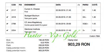 Bilet Vip+Gold cu castig 903 lei