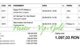 Bilet Vip+Gold cu castig 1097 lei